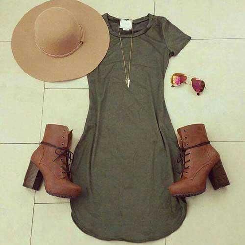 Sonbahar Elbise Kombin Önerileri