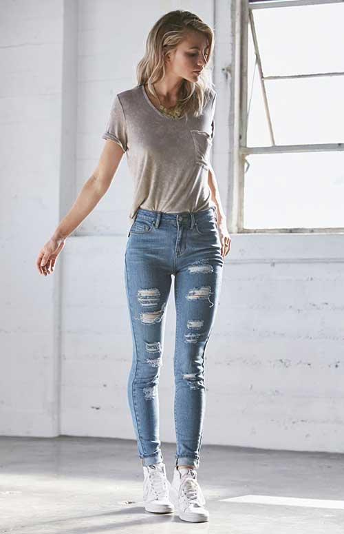 Yüksek Bel Pantolon Kombinleri-8