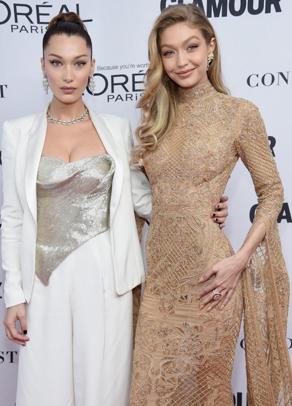 2017 Glamour Yılın Kadınları Ödüllerinde Hadid Kardeşler