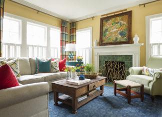 Turkuaz, Mercan ve Sarı Renklerinin Buluştuğu Bir Ev!